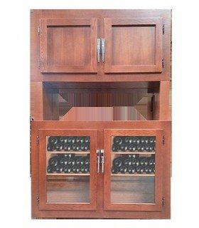 Vinoteca de madera 300 botellas Old cabinet
